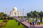 picture of mausoleum  - AGRA INDIA  - JPG
