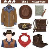 picture of cowboys  - Cowboy male accessories - JPG