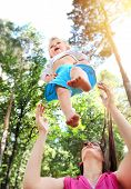 pic of rapture  - Young Mother and Happy Child in the Summer Park - JPG