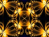 stock photo of computer-generated  - Fire Flower pattern in fractal design - JPG