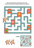 pic of squares  - Educational math puzzle - JPG