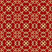 image of kaleidoscope  - Kaleidoscopic mosaic red tile pattern made seamless - JPG