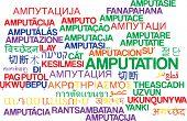 image of amputation  - Background concept wordcloud multilanguage international many language illustration of amputation - JPG
