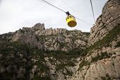 image of car ride  - Cable car ride to Montserrat in Spain - JPG