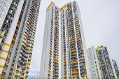 image of overpopulation  - Hong Kong residential buildings - JPG