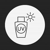 picture of tan lines  - Sunscreen Line Icon - JPG