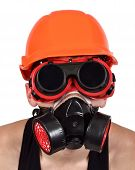 stock photo of hazardous  - worker in bio - JPG