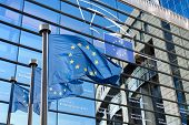 pic of european  - European Union flags in front of the European Parliament in Brussels - JPG