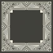 image of initials  - Vector floral and geometric monogram logo on dark gray background - JPG