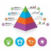 stock photo of human pyramid  - Pyramid chart template - JPG