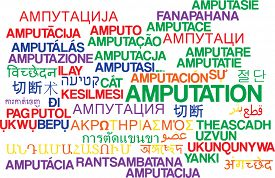 picture of amputation  - Background concept wordcloud multilanguage international many language illustration of amputation - JPG