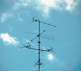 stock photo of antenna  - Old antenna for television - JPG
