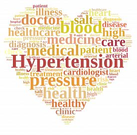 foto of hypertensive  - A Illustration with word cloud about hypertension - JPG