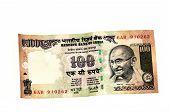 stock photo of mahatma gandhi  - Indian rupee note isolated on a white background - JPG