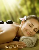 stock photo of massage therapy  - Spa outdoor - JPG