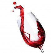 stock photo of wine-glass  - Red Wine Abstract Splashing - JPG