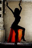 stock photo of nu  - beautiful woman dancing belly - JPG