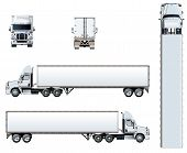 Vector Truck Template Isolated On White. Available Eps-10 Separated By Groups And Layers With Transp poster