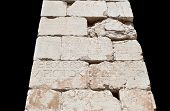 picture of oracle  - Ancient greek epigraph found on a obelisk shaft at Delphi oracle in Greece  - JPG