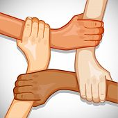 picture of joining hands  - illustration of hands holding each other showing unity - JPG