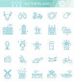 Dutch Culture Icons, Culture Signs Of Holland, Traditions Of Netherlands, Dutch Life, National Objec poster