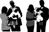 foto of mother daughter  - Family silhouettes - JPG