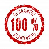 Guarantee Rubber Stamp. Vector Warranty Stamp, Guarantee And Satisfaction Quality Illustration poster