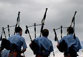 picture of bagpiper  - bagpipes - JPG