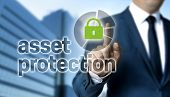 Asset Protection Concept Is Shown By Businessman. poster