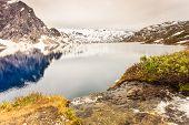 Tourism Holidays And Travel. Djupvatnet Lake In Stranda More Og Romsdal, Norway Scandinavia. poster