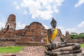 Old Temple Wat Ma Ha That In Ayutthaya, Thailand Grand Palace. Ayutthaya Thailand. Ayutthaya Famous  poster