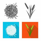 Vector Design Of Crop And Ecological Symbol. Set Of Crop And Cooking Stock Symbol For Web. poster