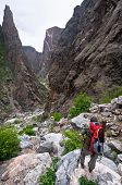 foto of sob  - Hiking into the Black Canyon on the SOB trail - JPG