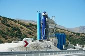 stock photo of movable  - Movable concrete mixer plants in Turkey - JPG