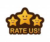 Rating Stars. Flat Design. User Reviews, Rating, Classification Concept. Vector Illustration. Enjoyi poster