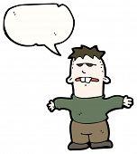 picture of buck teeth  - cartoon boy with speech bubble - JPG