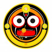 picture of jagannath  - Vector illustration of Hindu God Shri Jagannath - JPG