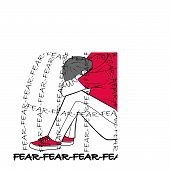 Concept Of Emotion Of Fear poster