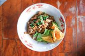 Noodle, Chinese Noodles Or Tofu Noodle With Fried Wonton poster