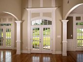 pic of model home  - Luxury Model Home with double arched entrance - JPG
