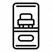 Order Taxi From Smartphone Icon. Outline Order Taxi From Smartphone Vector Icon For Web Design Isola poster