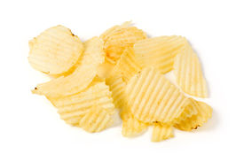 picture of potato chips  - Potato Chips close up shot for background - JPG
