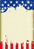 Grunge USA flag. A poster with a large scratched frame and a grunge us flag for your publicity.