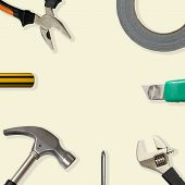 image of gaffer tape  - Used Tools With Space For Your Text - JPG