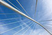 stock photo of calatrava  - ZubiZuri bridge Bilbao Bizkaia Basque Country Spain - JPG