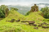 stock photo of champa  - My Son temple ruins - JPG