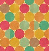 Retro geometric seamless pattern with seamless texture