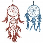 stock photo of dream-catcher  - Illustration of dream catchers  - JPG