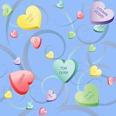 Heart Candy And Swirls