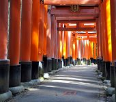 Fushimi Inari Taisha Shrine In Kyoto Prefecture Of Japan